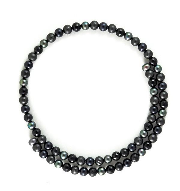 Collier Cercle noir